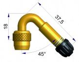 Латунный изогнутый жесткий удлинитель  42253-68