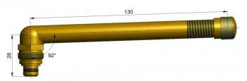 Вентиль длина 130 мм. R-0827-1